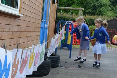 Great Witchingham Primary School - Playing outdoors