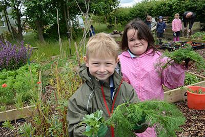 St. Peter's Primary School, Easton - Gardening outdoors